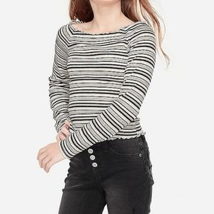 Justice Ribbed Off Shoulder Top